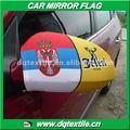 uma cerveja de marca da empresa na sérvia do espelho retrovisor do carro de bandeira para a promoção