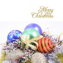 Plastic Mirror/Powder/Matt Decorative Christmas Ball Ornament Popular