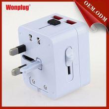 2014 WONPLUG THE NEWEST semi-transparent adapter plug socket with usb