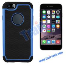 Dual-color Detachable PC case for iphone 6 Silicone+PC Case for iPhone 6 4.7 inch