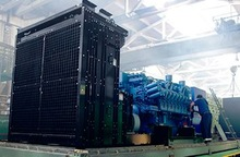 Strong anti-shock load ability Korean Doosan engined diesel generating genset for industry areas