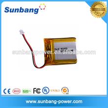 small rechargeable li-polymer 3.7V 800mah battery