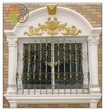 beautiful window, wrought iron trellis