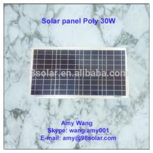 High quality Polycrystalline solar panel 30w, home use solar system
