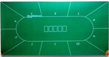 Poker Table Fabric ( casino equipment with flocking nylon and rubber materia)card table top