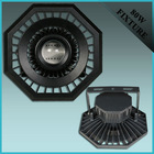 80W black powder coated aluminum LED tunnel light only housing