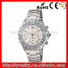 Vogue wrist watch japan quartz luxury brand rhinestone watches men