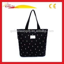 2014 Green Fashion Cotton Wholesale Black Cotton Tote Bag