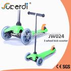 120/80mm 3 wheel plug in aluminum T bar kids kick dirt scooter