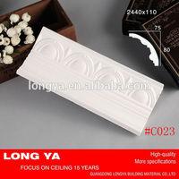 New design classic white decorative silicone rubber for plaster casting cornice mold for ceiling