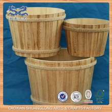 Antique Unfinished Cheap Wholesale Wooden Bucket For Sale