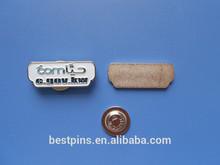 Soft enamel epoxy style magnetic company name plate