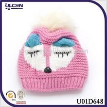 Pink children beanie Crochet Owl Hat Pattern