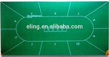 Poker Table Fabric ( casino equipment with flocking nylon and rubber materia)mahjong mat