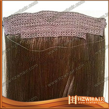 new arrived wholesale 100% human New Style peruvian/indian/brazilian best quality virgin fish line hair extensions