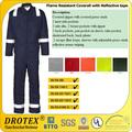 Anti - estático chama retardador de característica impermeável retardador de fogo 100 de segurança de algodão coverall trabalho