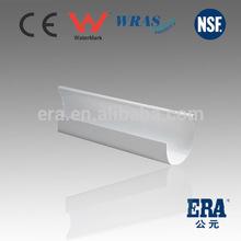 New Material ERA white pvc rainwater gutters