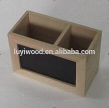 personalizados de madera sostenedor de la pluma pizarra pequeña de madera caja de almacenamiento