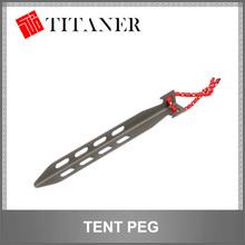 ultra light titanium steel tent pegs