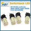 Dual color led lights white/yellow, 60pcs 3157 swithchback SMD LED lamp, Car Brake light bulb