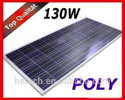 Polycrystalline Solar Panel 130W with Brown Frame