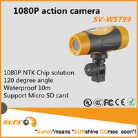 1080P helmet mount and bike mount waterproof bullet sport action dvr camera