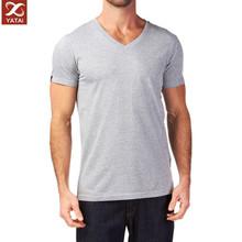 new design custom men v neck t shirt slim fit