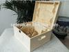 Solid pine wood 6 bottles wine box, wooden wine gift box