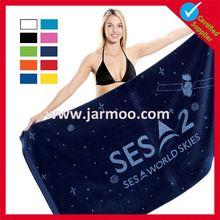 wholesale cheap advertising logo printed beach towel