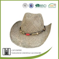 BSCI AUDIT fashion hat men straw cowboy hat