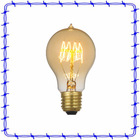Crystal clear A19 quad loop modern pendant lamp glass edison lamp