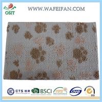 lastest new flower printed 100% polyester anti-slip memory foam yiwu bath mat/bath rug