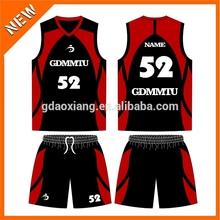 new style sublimation basketball training jersey