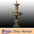 playing music nude children decoration brass fountain for sale NTBF-025