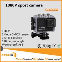 1080P mini portable video recorder DV, waterproof IP68, 50m underwater, support helmet/bike mount