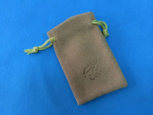 drawstring jewelry pouch suede