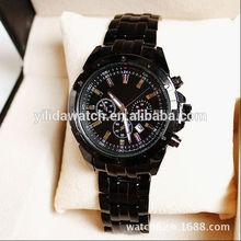 Top quality and cheap price Elydaauthentic wholesale 10 meters waterproof steel watch with calendar men's watch w