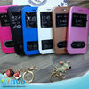 Newest double windows leather mobile phone case for Apple iPhone 6