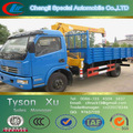 Hidráulico guindaste pequeno, 4 ton hidráulico guindaste móvel, novo guindaste do caminhão