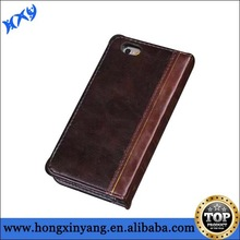 For iphone 6 vintage leather book case