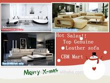 Sofa Christmas sale /Top genuine leather sofa set/beige brown sofa