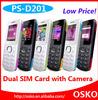 Factory Sell 1.8inch Screen quad band dual sim single camera mini mobile phone D201