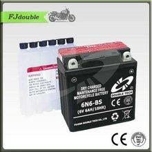 Dry charged sla 12v 60ah mf battery pack 6V 6AH 6N6-BS