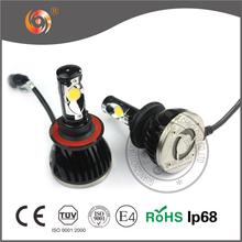 Using high power fan 6000K 2400 lumen cob car h13 led headlight bulbs