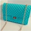 long chain silicone beach bag , chain messenger bag