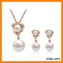 Charm Delicate Rhinestone Imitation Pearl Jewelry Set