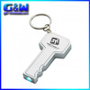 Cheap souvenir Custom logo car keyrings Key Shaped keychain souvenir led flashlights