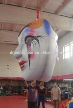 Hanging indoor Halloween decoration inflatable mask