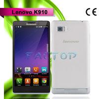 lenovo k910 dual sim card original 5.5 inch androdi 4.2 quad core good quality old model mobile phones