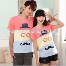 2014 Wholesale fashion design couple t shirts